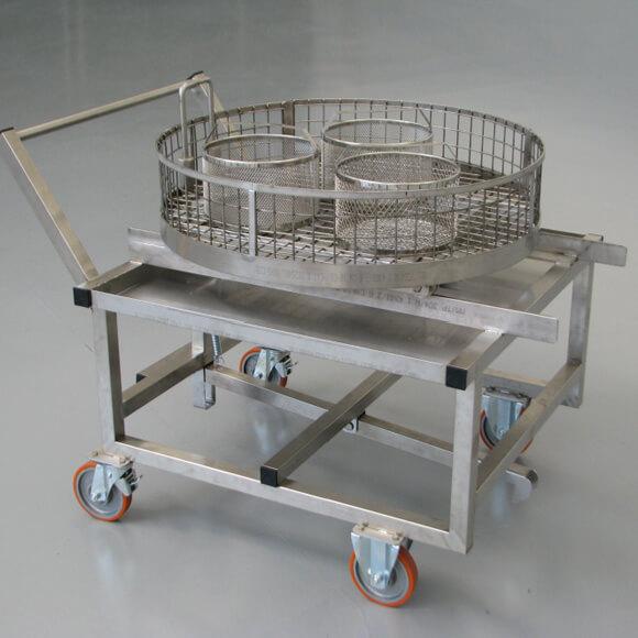 carrello per lavapezzi
