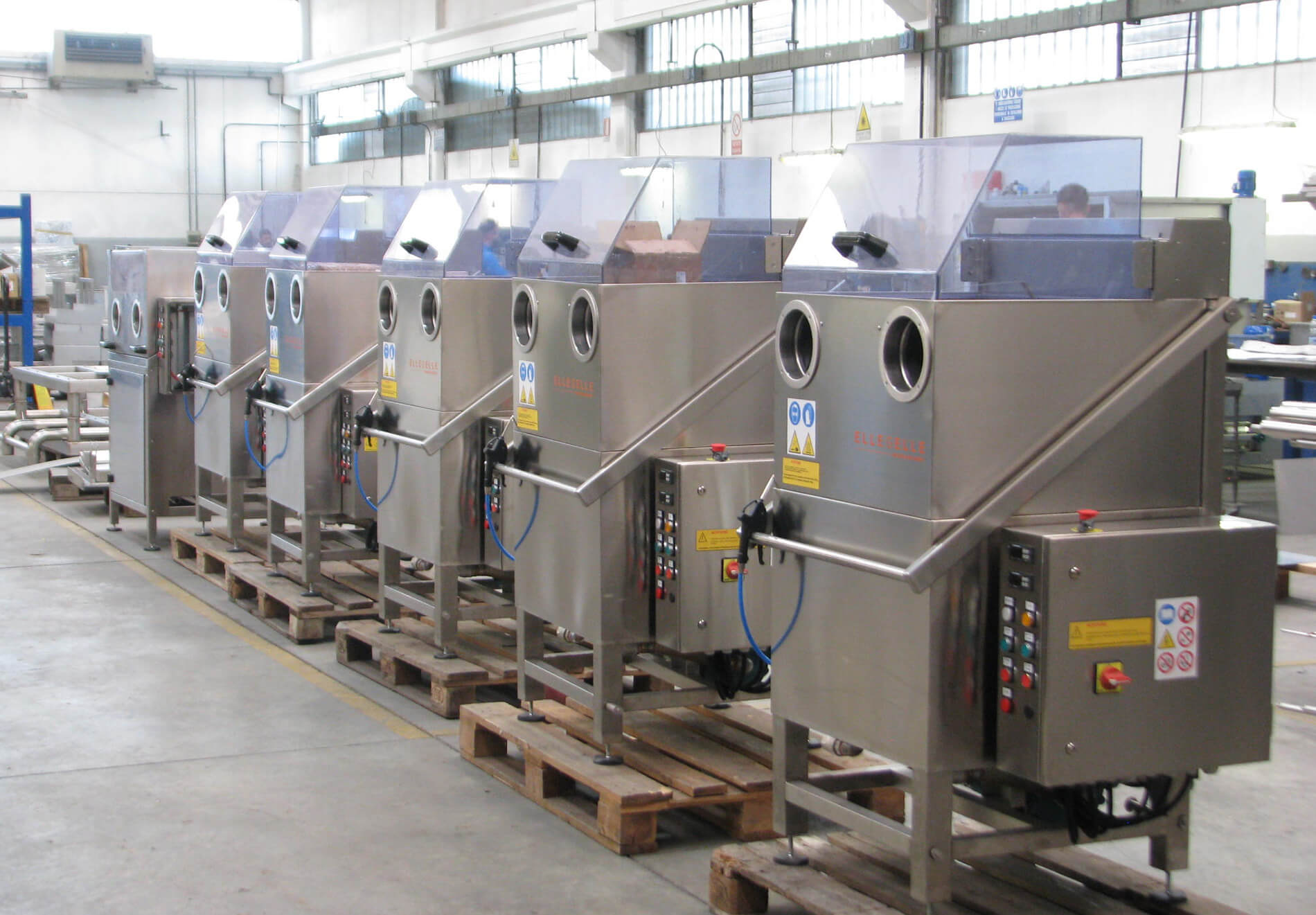 Impianti e macchine lavapezzi
